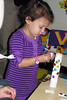 ECC Rosh Chodesh Program : Our preschoolers and kindergarten students put on a family concert and then went into the classrooms with their parents to do a Rosh Chodesh project. Look at our telescopes!