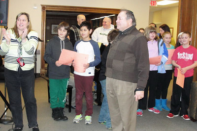 """Our Busy Youth: 2nd Grade Havdalah Program, Chanukah Sing-Along, and 5th Grade Shopping for an """"Adopted"""" Family, Kids Night Out,  and Hebrew Lounge pix"""