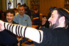 "World Wide Wrap - Sunday, February 6 : Our Men's Club, Hazzan Gross  and the Education & Youth Department teamed up to teach pre-Bar/Bat Mitzvah students how to ""wrap"" tefillin."